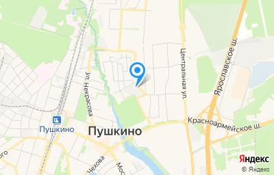 Местоположение на карте пункта техосмотра по адресу Московская обл, г Пушкино, ул Институтская, д 15А
