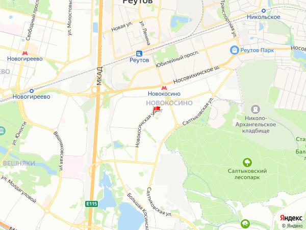 Карта район Новокосино