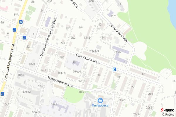 Ремонт телевизоров Улица Оренбургская на яндекс карте