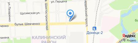Астра на карте Донецка