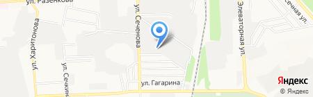 Украинский папир на карте Донецка