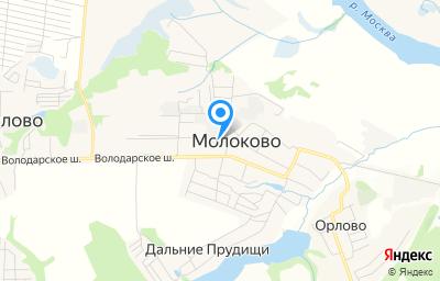 Местоположение на карте пункта техосмотра по адресу Московская обл, Ленинский р-н, с Молоково, ул Школьная, д 6А