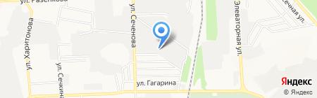 Контемп на карте Донецка
