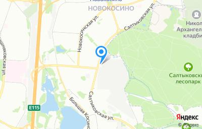 Местоположение на карте пункта техосмотра по адресу г Москва, ул Салтыковская, д 8Б