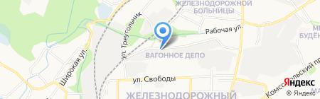 Спасенко В.В. на карте Старого Оскола