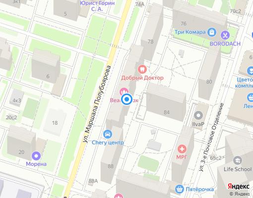 Жилищно-строительный кооператив «Полет» на карте Люберец