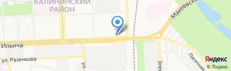 Банкомат КБ ПриватБанк ПАО на карте Донецка