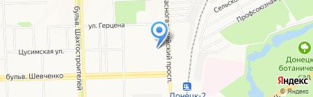 Приемный пункт вторсырья на карте Донецка
