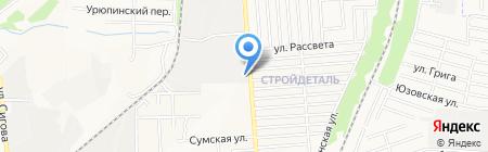 Инэко на карте Донецка