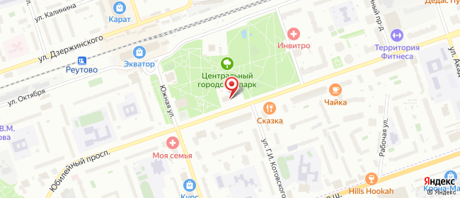 Карта расположения пункта доставки Ростелеком в городе Реутов