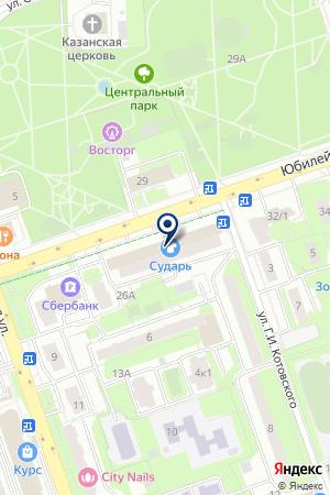 ПТФ ИНТЕРЬЕРКОМПЛЕКТ на карте Юбилейного