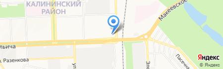 АСКА на карте Донецка
