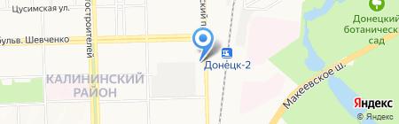 Пирс на карте Донецка
