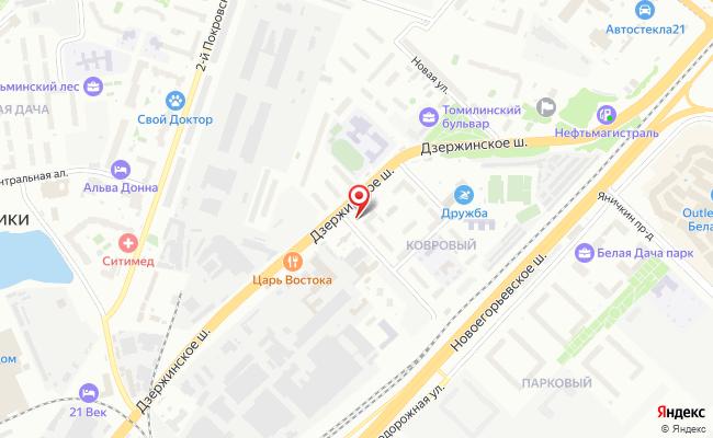Карта расположения пункта доставки Халва в городе Котельники