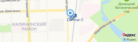 АЗС ТНК-BP на карте Донецка