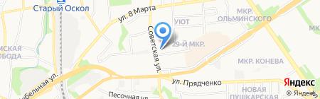СОЛЕКС на карте Старого Оскола