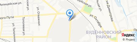 Восток-центр на карте Донецка