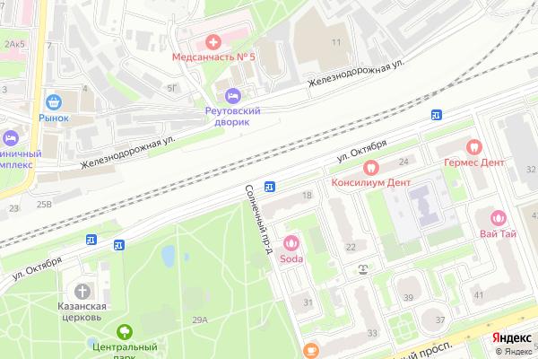 Ремонт телевизоров Улица Октября на яндекс карте