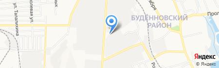 Донбасс-Тейлор на карте Донецка