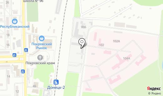 Фарбія. Схема проезда в Донецке
