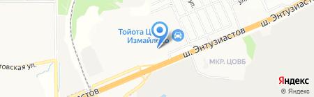 Мерседес-Бенц Измайлово на карте Балашихи
