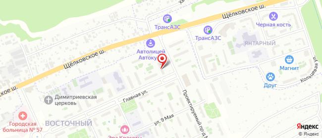 Карта расположения пункта доставки Москва Главная в городе Москва