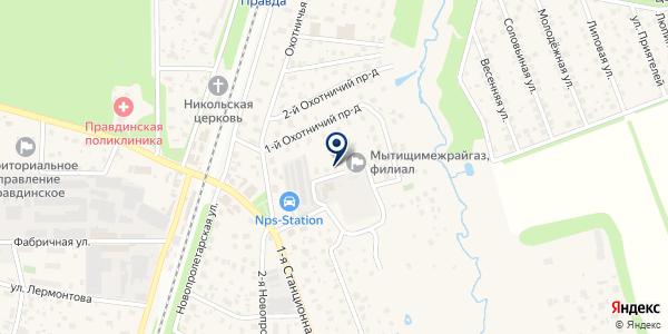 ПРАВДИНСКИЙ УЧАСТОК ПУШКИНСКАЯ ЭЛЕКТРОСЕТЬ на карте Правдинском