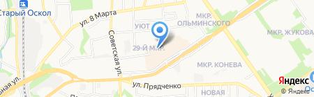 Почтовое отделение №8 на карте Старого Оскола