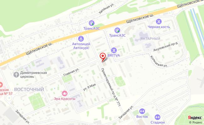 Карта расположения пункта доставки Халва в городе Восточный