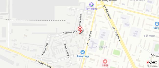 Карта расположения пункта доставки Череповец Чкалова в городе Череповец