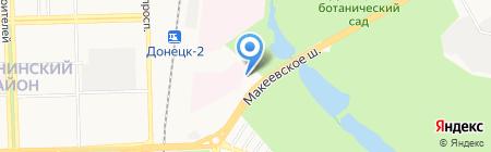 Альфатекс на карте Донецка