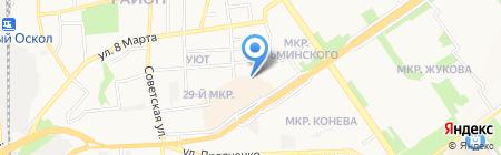 Строящееся административное здание по ул. Заводская на карте Старого Оскола