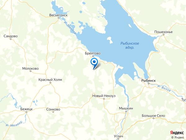 деревня Михайловское на карте