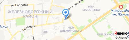 Автомастерская на ул. Ольминского на карте Старого Оскола