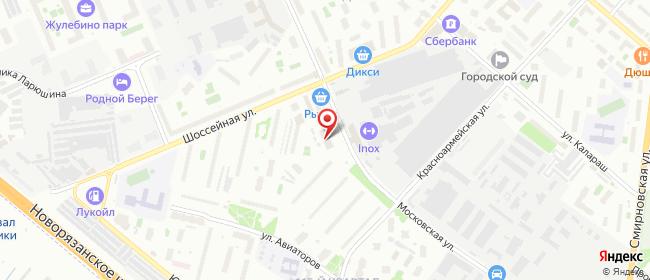 Карта расположения пункта доставки Ростелеком в городе Люберцы