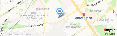 АЗС Оскол-ТЭК на карте Старого Оскола