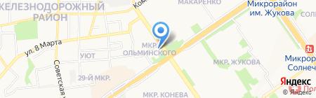 Строящееся административное здание по ул. Ольминского микрорайон на карте Старого Оскола