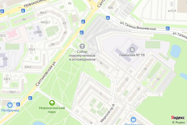 Ремонт телевизоров Мирской проезд на яндекс карте