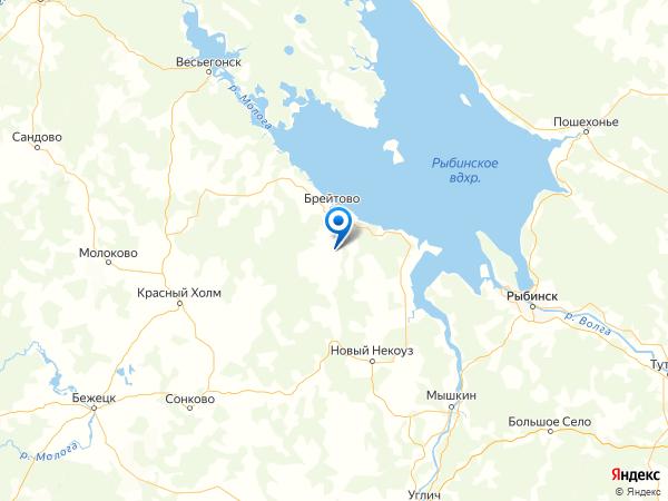 деревня Княгинино на карте