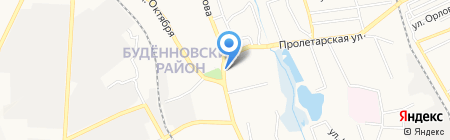 Елена на карте Донецка