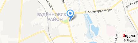 Unruly на карте Донецка