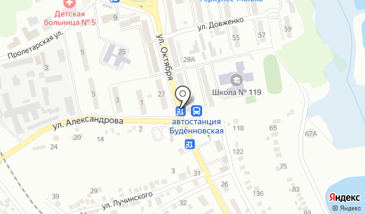 Киоск по продаже хлебобулочной продукции. Схема проезда в Донецке