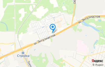 Местоположение на карте пункта техосмотра по адресу Московская обл, г Балашиха, тер Западная коммунальная зона, ш Энтузиастов, д 8А