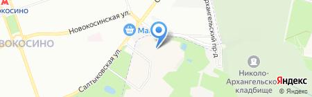 Средняя общеобразовательная школа №19 на карте Балашихи