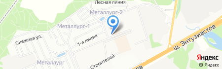 Минимаркет на Горенском бульваре на карте Балашихи