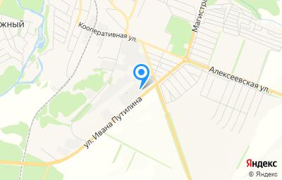Местоположение на карте пункта техосмотра по адресу Белгородская обл, г Новый Оскол, ул Ивана Дмитриевича Путилина