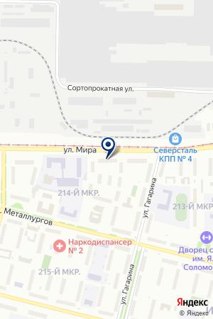 ОБЩЕЖИТИЕ № 12 на карте Череповца