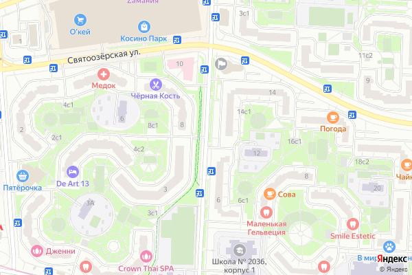 Ремонт телевизоров Улица Татьяны Макаровой на яндекс карте