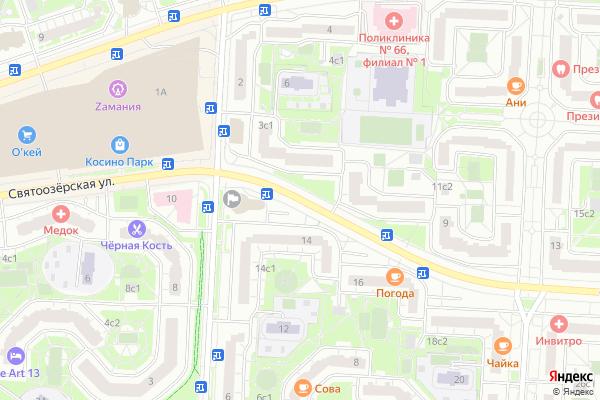 Ремонт телевизоров Улица Святоозерская на яндекс карте