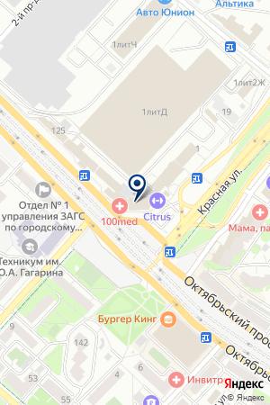 ПАРИКМАХЕРСКАЯ ПРО-ГРАНД на карте Люберец